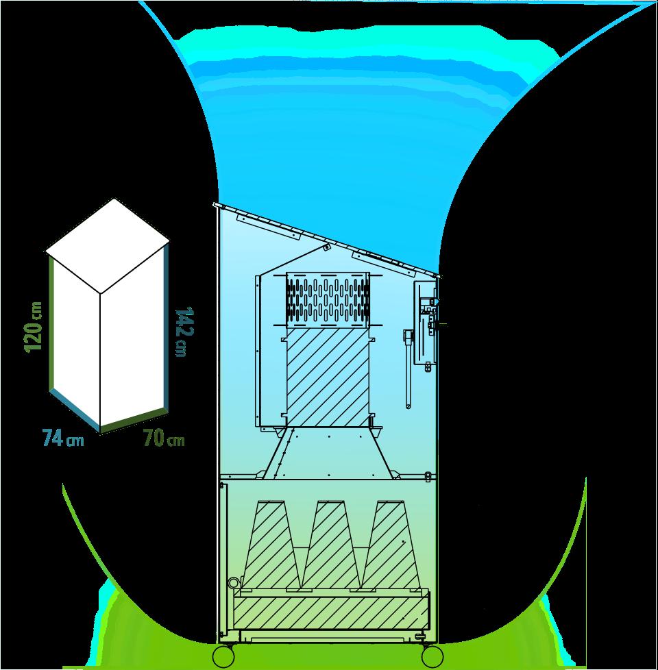 Insensiv Luftreiniger 1500 Luftstrom & Maße