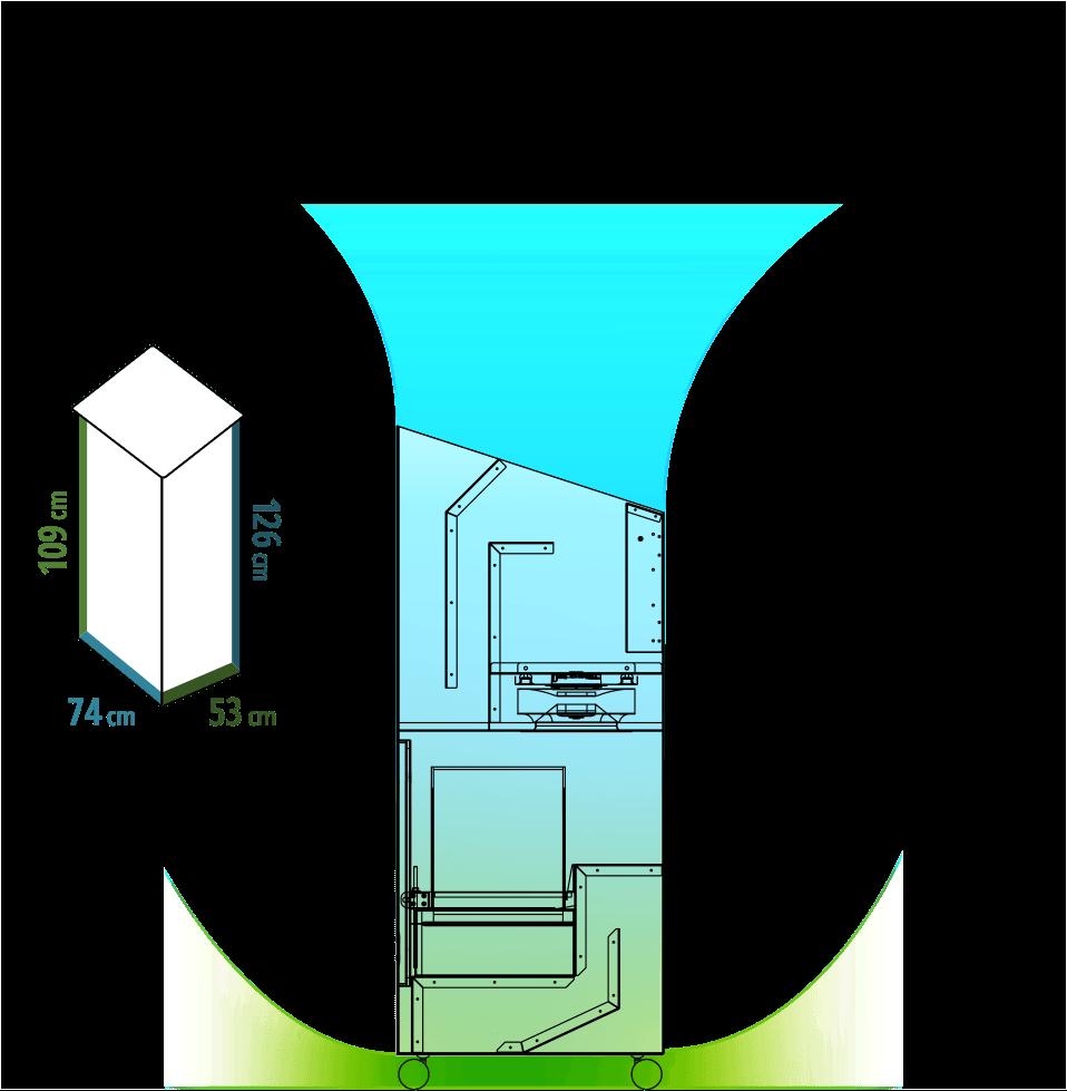 Insensiv Luftreiniger 800 Luftstrom & Maße